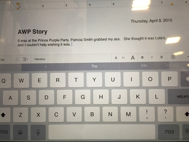 An AWP story someone started at the Storymobile but did not finish.