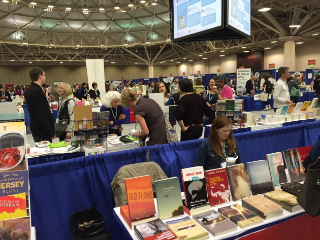 The book fair is huge, a big literary party