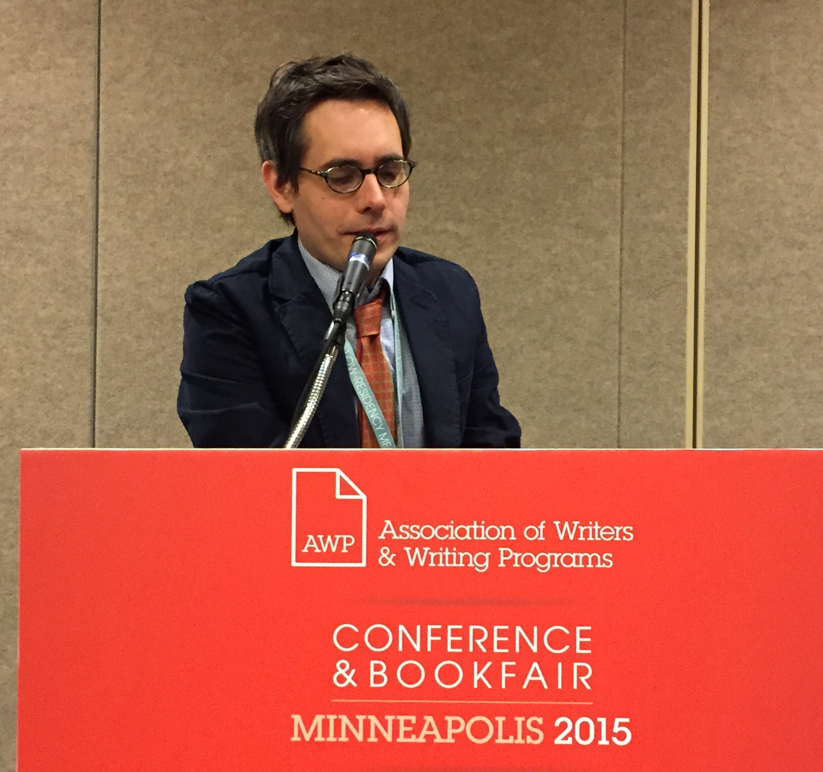 Acquisitions editor Erik Anderson of the University of Minnesota Press