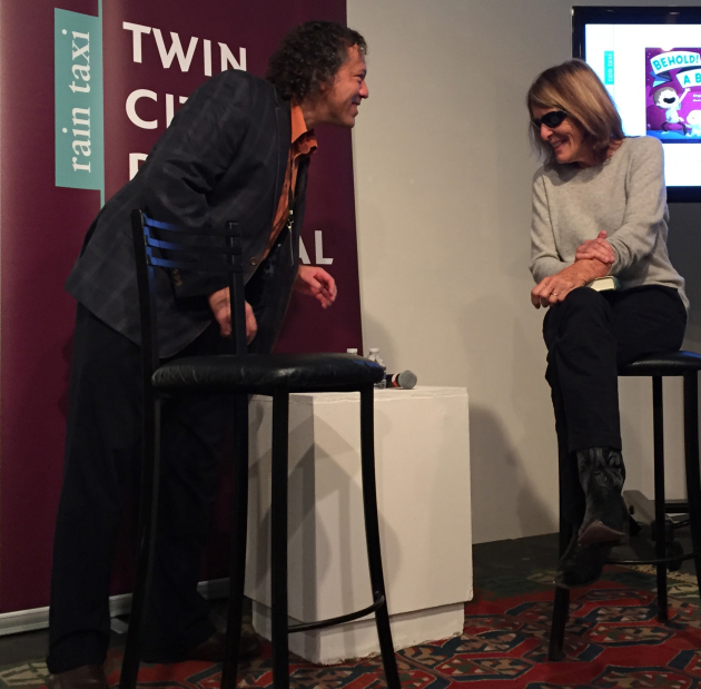 Eric Lorberer and Joy Williams at the Twin Cities Book Festival