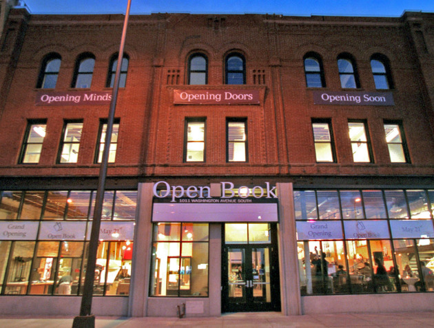 Milkweed Books will open in September in the Open Book building, shown during its own opening.