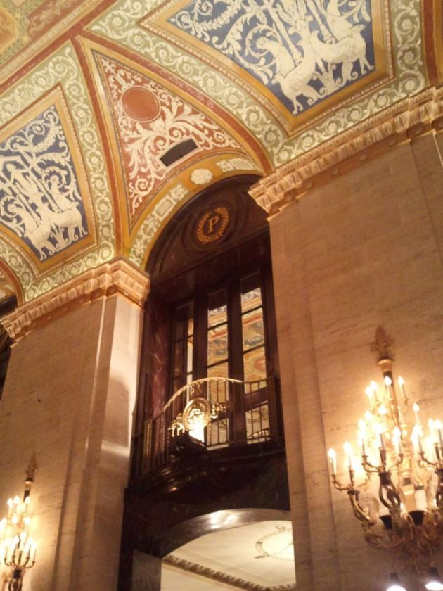 The fabulous lobby of the Palmer House Hotel.