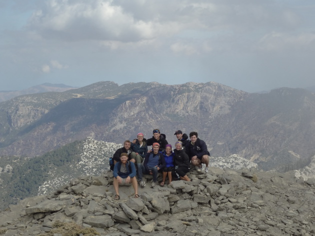 The group at the summit of the first mountain