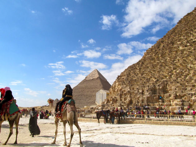 A beautiful day to tour the Pyramids