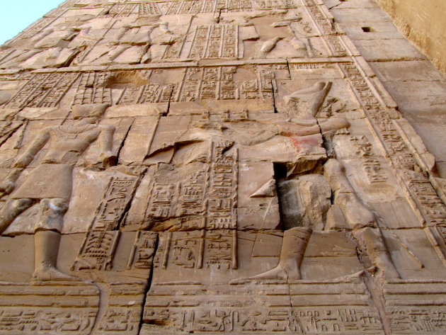 Hieroglyphics at the Karnak Temple -- up close