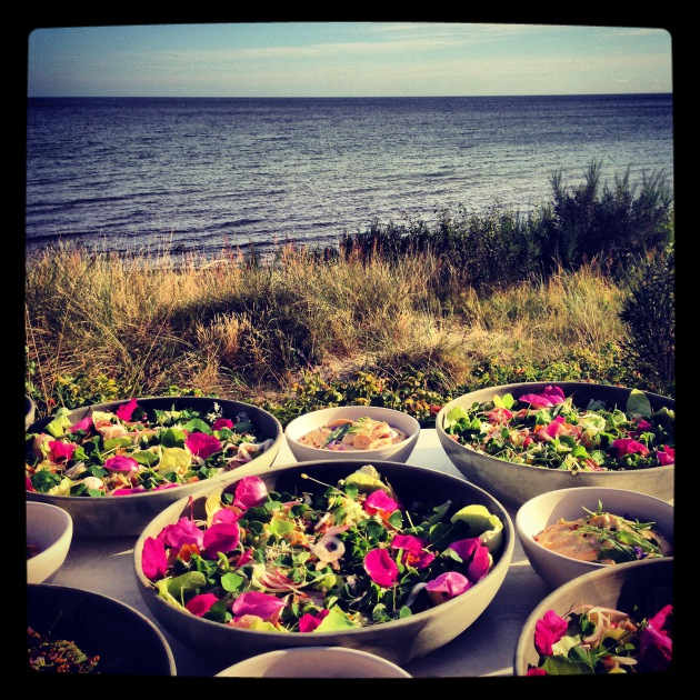Dinner on the Danish island. Photo by The Perennial Plate.