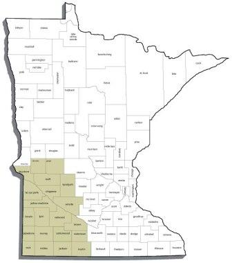 Minnesota's Walk In Access Program is targeted at these 21 southwest counties.