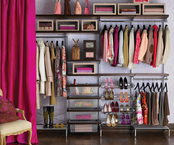 The closet system you really want always seems to cost more than you want to spend. This beauty from the Container Store is more than $1,000 installed. And then there's California Closets dreaming.