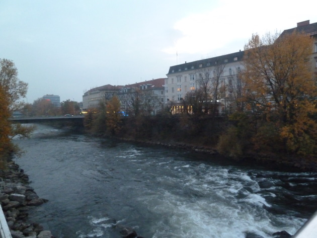 The Mur River, running through Graz.