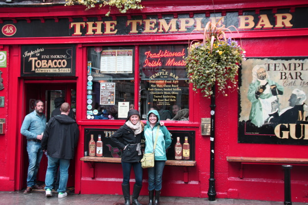 The Temple Bar in Dublin!