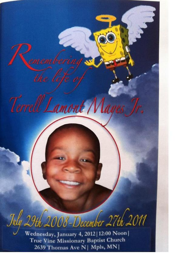 Terrell Mayes, Jr., who died Dec. 27, 2011.