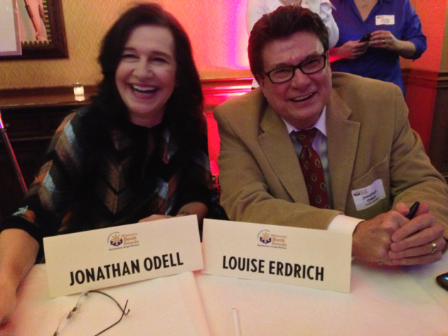 Louise Erdrich and Jonathan Odell were two of the finalists in fiction. Or, wait--maybe it's Jonathan Odell and Louise Erdrich?