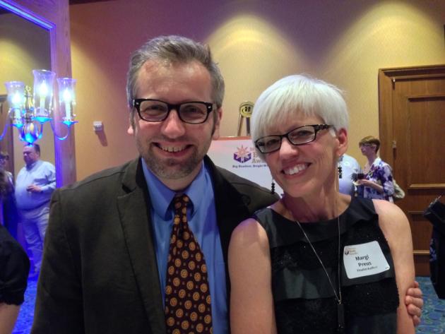 Geoff Herbach, with finalist Margi Preus.