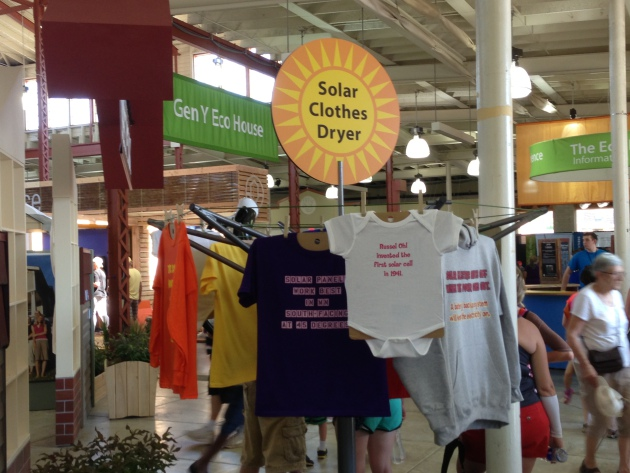 Introducing the all new solar clothesline dryer at the MN State Fair.