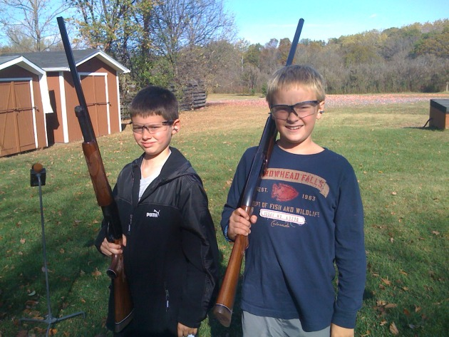 Theo Petrie (12) & Johnny Schissel (12)