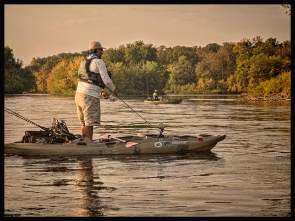 Kayaks take the mississippi by storm for Mn fishing tournaments