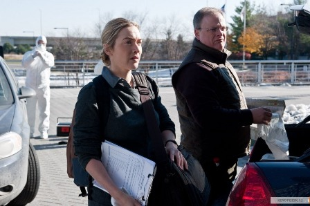 "Kate Winslet as an epidemiologist in ""Contagion."" (Warner Bros. photo)"
