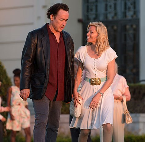 "John Cusack with Elizabeth Banks in ""Love & Mercy."""