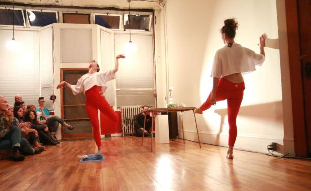 Arwen Wilder and Kristin Van Loon of the performance duo Hijack. (photo by Farrington Llewellyn)