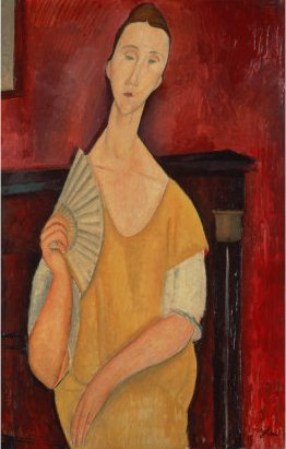 "Modigliani's ""Woman with a Fan"""