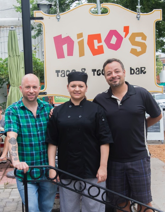 Johnny Holder, Blanca Laguna and Nico's owner Ale Victoria welcome you to Nico's to celebrate Dia De Los Muertos this weekend. (Photography by J.Strowder/JMS)