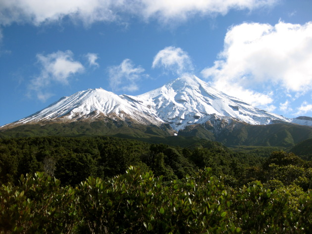 Mt. Taranaki from the Dawson Falls car park