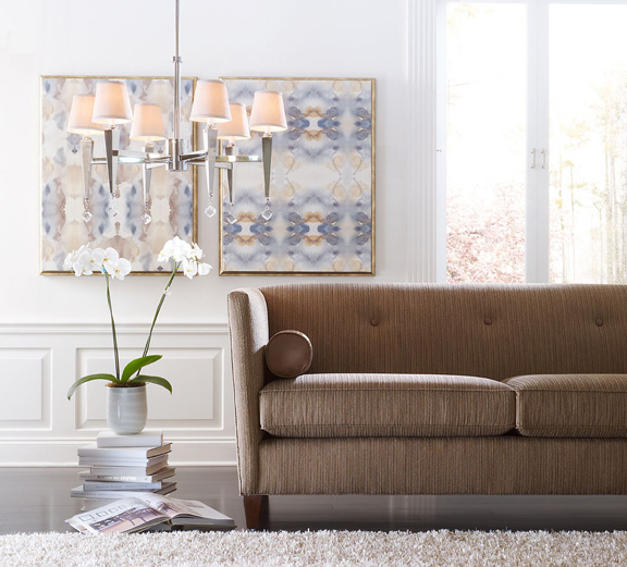 Candice Olsen designed this couch, which would look great in my house.