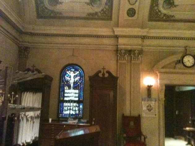 The sacristy