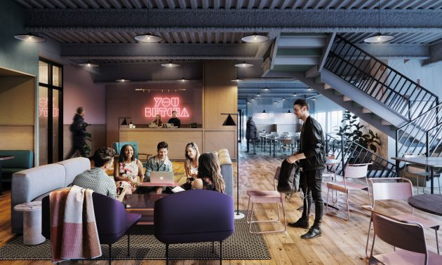 Temporary office space minneapolis Workspace Rendering Of Weworks Minneapolis Space Yelp Wework Opens In Minneapolis Startribunecom