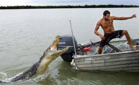 Croc Attack! The one thing you will NOT have to worry about Saturday on your favorite lake.