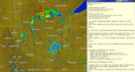 Severe/Tornado Risk Lingers Into The Evening - StarTribune com