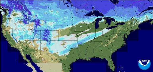 Breaking News Its Cold More Wintry Weather On The Way - Us snow coverage map