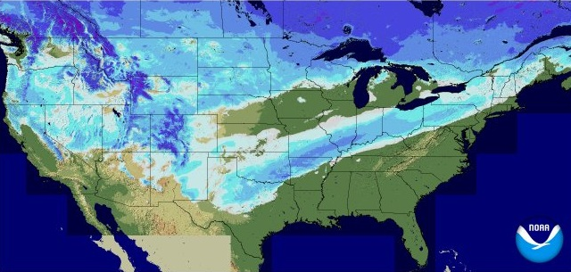 Another Winter Storm More Ice And Travel Concerns WeatherNation - Us snow cover map weather com
