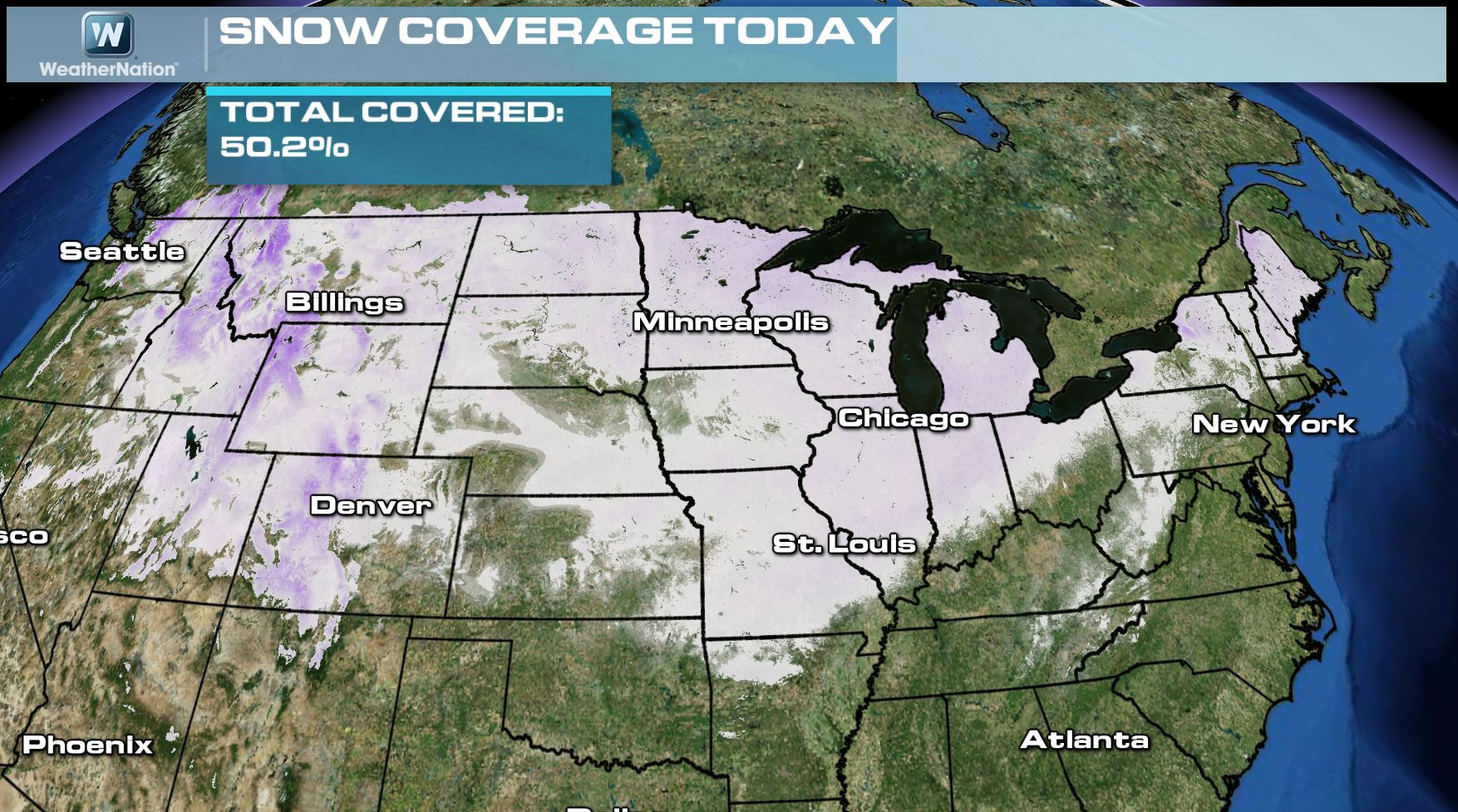 From Record Cold To Heavy Rain And Severe Weather WeatherNation - Us snow cover map noaa