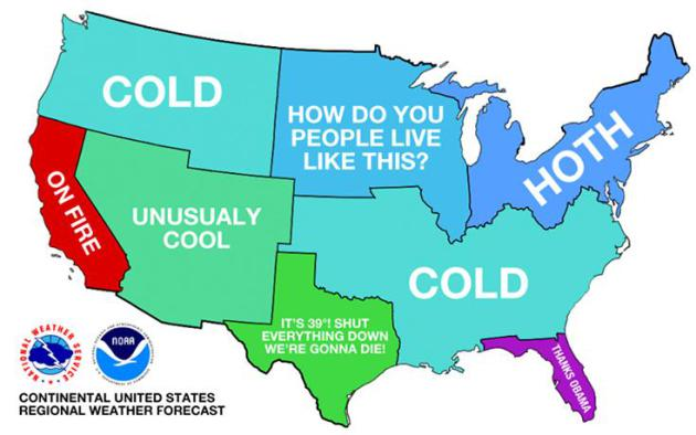 The End Is Near To The Coldest Midwinter Spell Since 1984 - Average-snowfall-us-map
