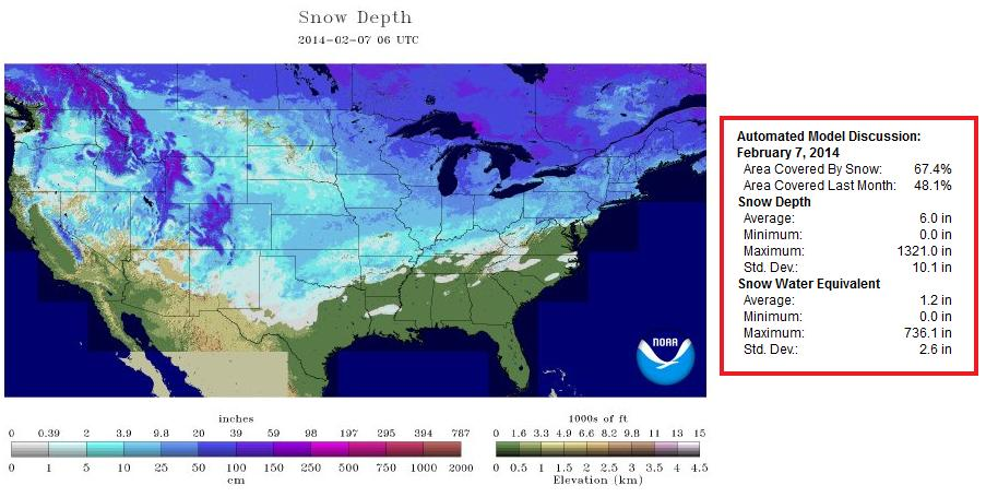 Greatest US Snow Coverage Of The Season More Snow On The Way - Current Us Snow Cover Map