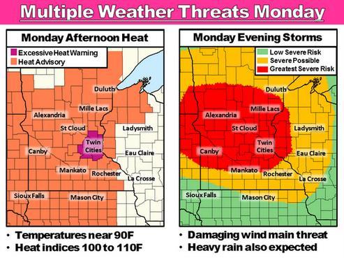 Jungles of Minnesota: Severe Heat, then Severe T-storms