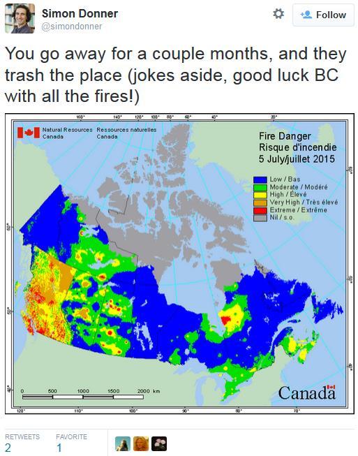 Thunder Smoke Canadian Blazes Spark MidSummer Smog Wettest