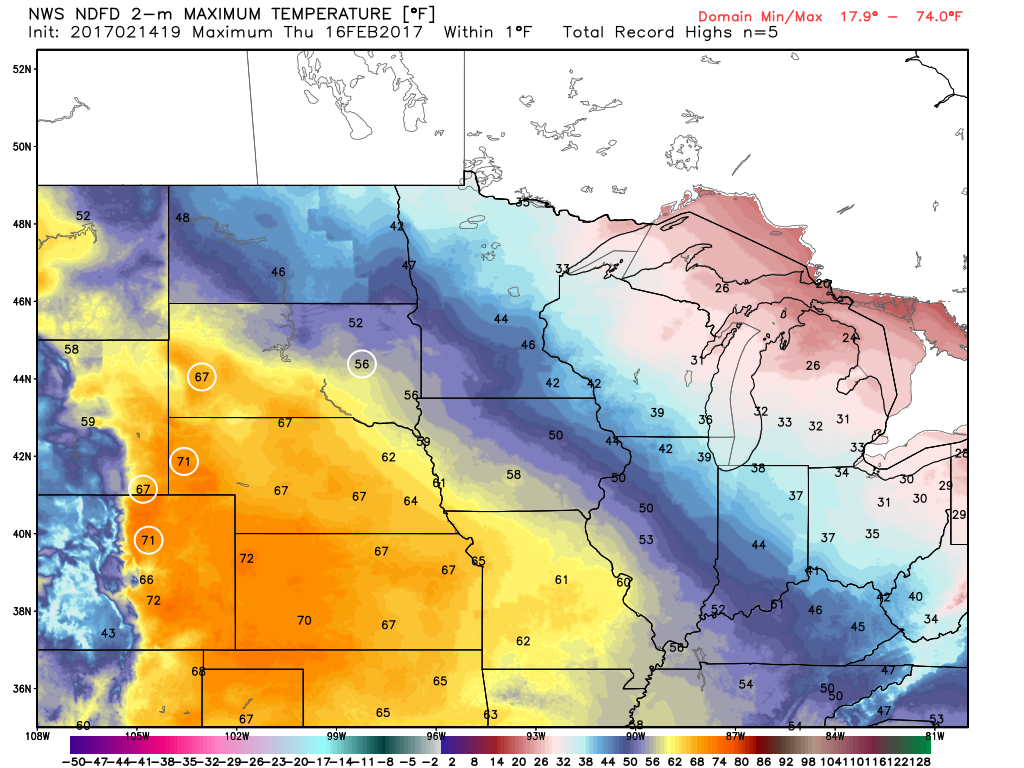 Average temperatures minneapolis - Note That By Friday Record Warmth Could Stretch As Far North As Minneapolis Mn St Cloud Mn Fargo Nd And Grand Forks Nd