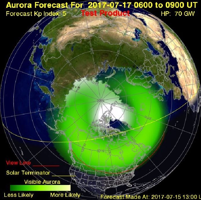 nasa northern lights forecast 2017 - photo #3