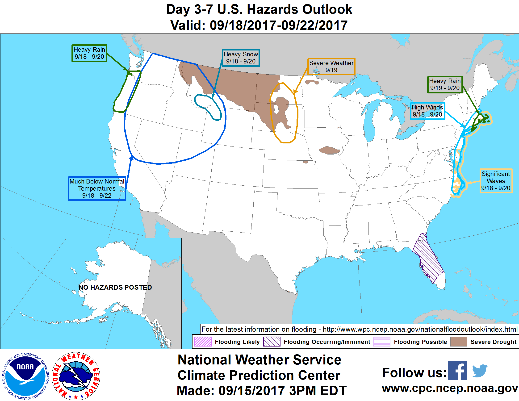 Whiff Of Autumn Sunday Jose May Get Loopy StarTribunecom - Map of the us hazards comic
