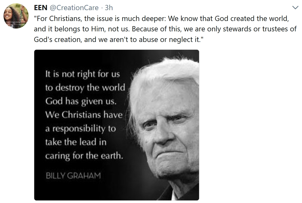 The Reverend Billy Graham Called Climate Change a
