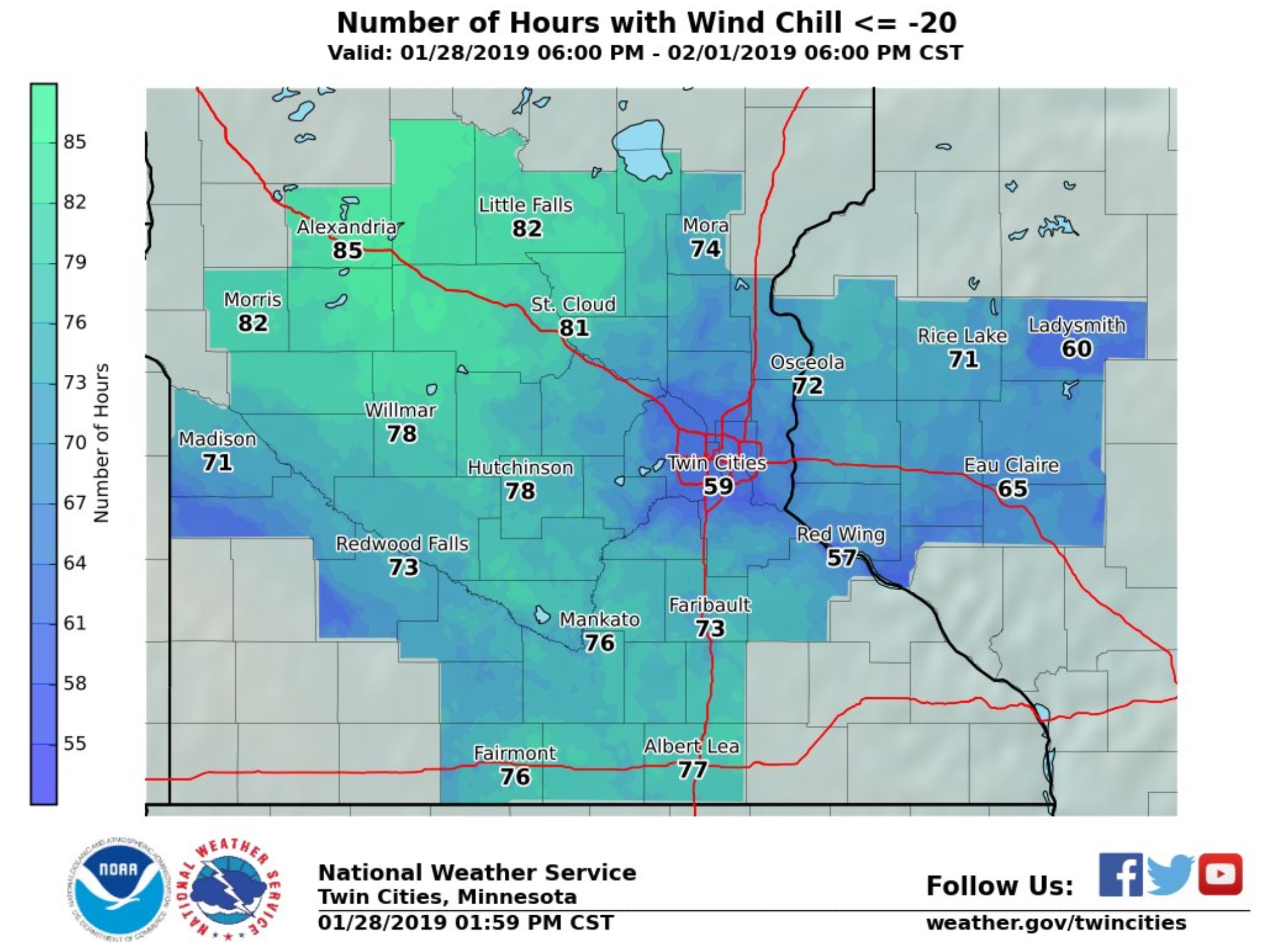 3 Days Of Polar Pain Wind Chills Bottom Out At 50f Wednesday Msp