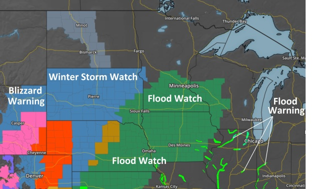 Flood Watch Issued for Street Flooding Risk This Week; Over 1″ Rain May Fall by Thursday