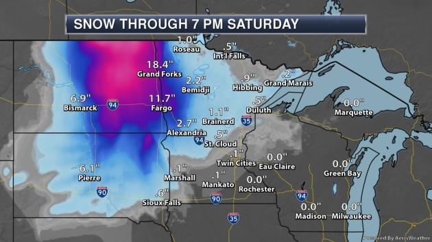 Snowfall Forecast: Nuisance MSP Metro – Plowable Red River Valley – Crippling Dakotas