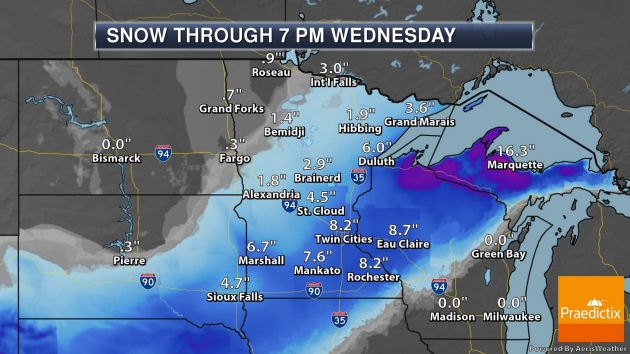 Biggest November Snowfall at MSP in 9 Years? On Track for 5-10″