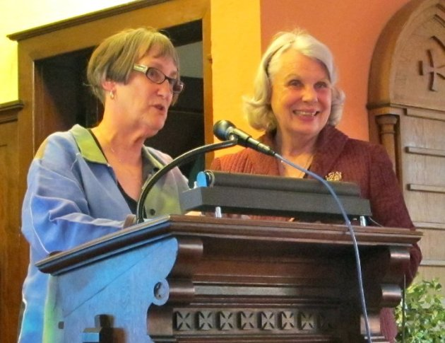 Peg Meier and Coco's daughter, Vicki Ford, at the book launch of Coco's diary last April. Photo by Laurie Hertzel