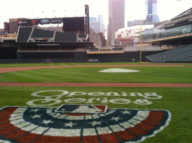 Target Field was cold and windy Sunday, but playable.