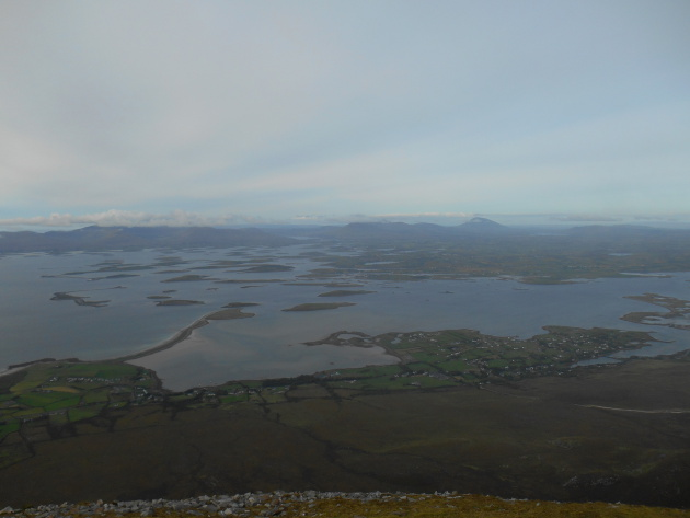 The view at the top of Croagh Patrick
