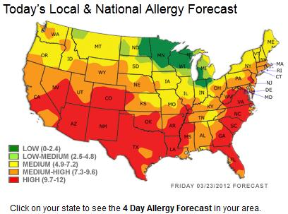 Graphics For Allergy Forecast Graphics